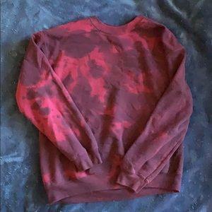 Red Tie Dye Crew Neck